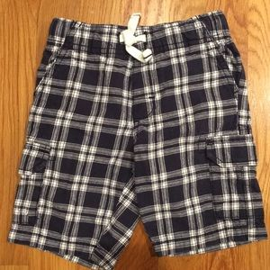 Carters Dark Navy & White Plaid Cargo Style Shorts
